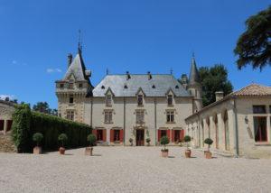 The winery at Château de Pressac in Bordeaux