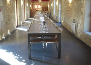 The guard room at Château de Pressac in Bordeaux