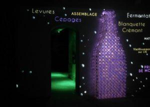 Big bottles shinning at Maison Guinot