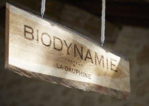 A Road Signal of Biodynamie at Château de la Dauphine in Bordeaux