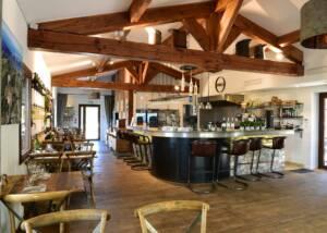 tasting area at domaine de la font des pères winery