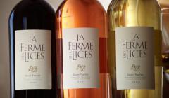 Three colors of wine at La Ferme des Lices