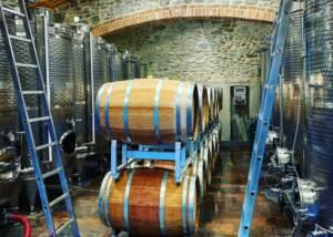 barrels at the cellar of chiesa del carmine