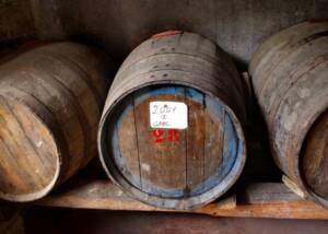 Wine Barrels at Fattoria Santa Vittoria