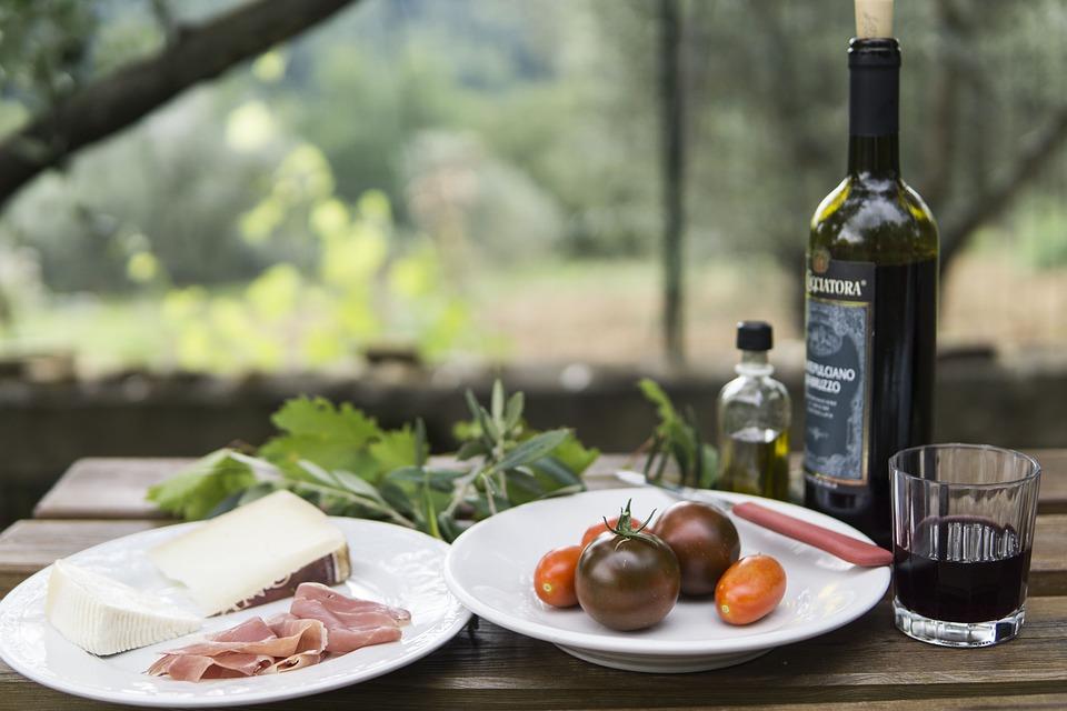 Picknick, Wein, Europäische, Im Freien, Käse