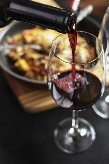 Wein, Rot, Flasche, Trinken, Glas