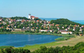 The view on Tihany next to the lake Balaton
