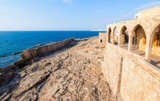 An ancient Phoenician wall in Batroun