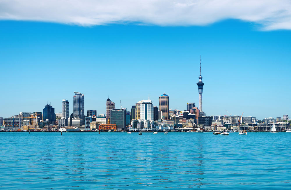 Skyline of Auckland City, New Zealand