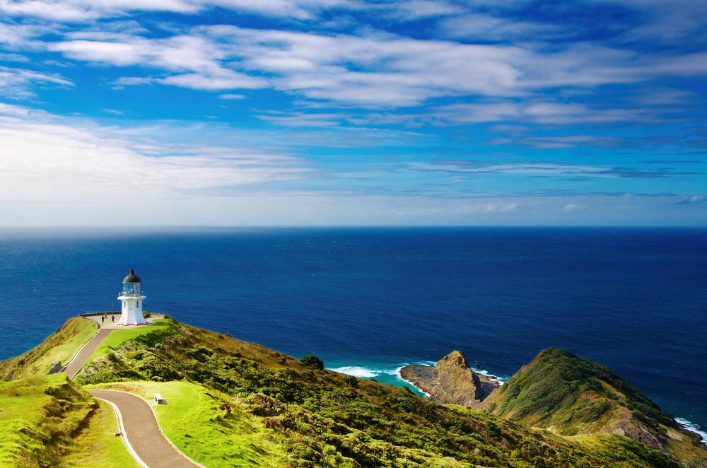 East Cape Reinga Lighthouse, north edge of New Zealand