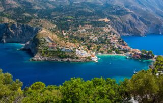 The village of Assos on Kefalonia