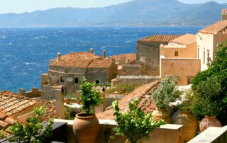 The town of Monemvasia in the Peloponnese region
