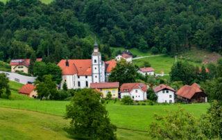 The village of Olimje in Posavska