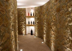 de las encomiendas modern wine cellar with shelves in the winery