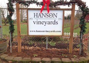 hanson vineyards logo on gates in united states