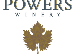 powers winery logo with leaf below in United States