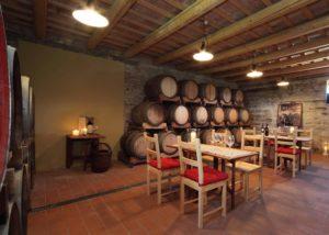 The tasting room of the Azienda Agricola Zaccagnini