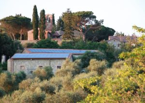 The view on the village close to the Fattoria Montepescini