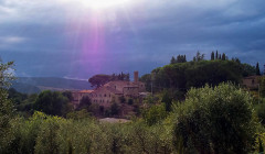 The vineyard and winery of the Fattoria Montepescini in Chianti, Tuscany, Italy