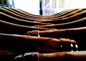 Beautiful Display of Wine Bottles at Ca Viola