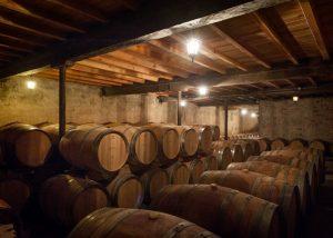 Château Bardins - barrels cellar