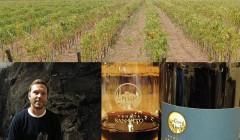 Tenuta San Vito owner near vineyard and bottles of wine in Italy