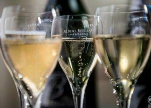 Champagne Albert Beerens - Three glasses of Champagne