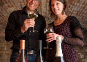 Having a wine tasting at Vignoble Angst in Burgundy