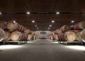 Château Bouscaut - huge barrels cellar