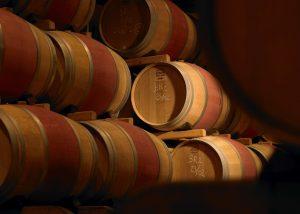 Château Bouscaut - barrels cellar
