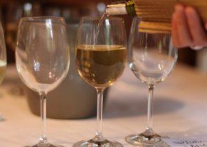 Château Bardins - glasses of wine