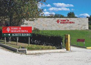 entrance into the estate of Terre Di Serrapetrona winery