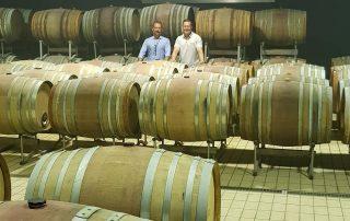 Tenuta Fertuna winery cellar overview of two winemakers