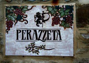 striking coat of arms of the beautiful italian perazzeta winery