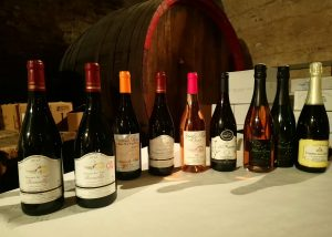 "Havin a tasting at Domaine du ""Tane"" in Beaujolais"