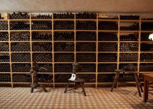 Tenuta Villanova winery cellar full of bottles located in Italy