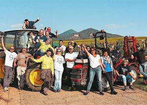 The team in the vineyard at Domaine Schwach François et Fils