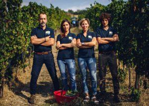 winemakers team at Tenuta Santi Giacomo e Filippo vineyard in Italy