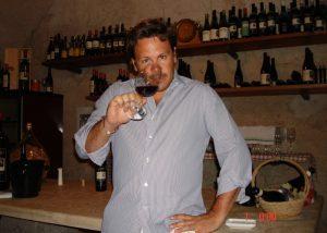 Winemaker tastes amazing wines from italian winery Cantina Meroni.