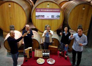 Viticoltori Associati di Vinchio Vaglio Serra wine tasting session in cellar