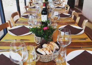 Tenuta San Vito wine tasting place inside winery in Italy