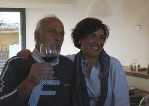 couple tasting wines at Tenuta La Favola winery in Italy