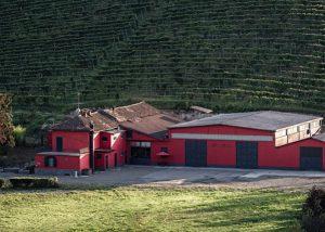Tenuta Garetto winery overview with vineyard in background