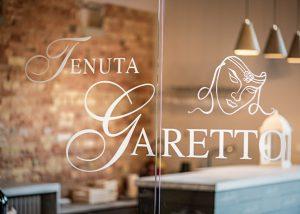 wine tasting place entrance inside Tenuta Garetto winery