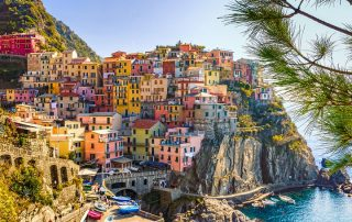 town of Cinque Terre in Liguria wine region in Italy