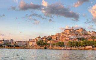 The town of Coimbra in the Bairrada region