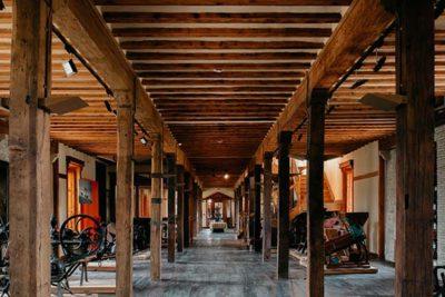 Bodega Otazu - wood cellars
