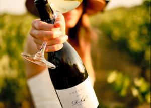 Baraka Winery - glass & bottle