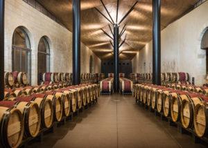 Château Kirwan - Beautiful and long barrels cellar