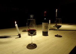 Château Kirwan - vintage tasting with candles